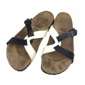 Birkenstock Bikis Leather CrisCross Strap Sandals